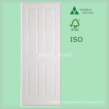 Interior White Primered Craftsman Wooden Door